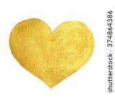 heart love gold watercolor... | Shutterstock .eps vector #374864386
