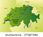 detailed  map of switzerland   Shutterstock . vector #37487386