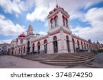 view of the beautiful market of ... | Shutterstock . vector #374874250