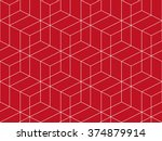 abstract geometric isometric... | Shutterstock .eps vector #374879914
