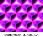 abstract geometric isometric... | Shutterstock .eps vector #374883664