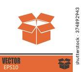 vector icon box | Shutterstock .eps vector #374892943