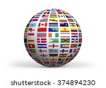 flags of the world. high... | Shutterstock . vector #374894230