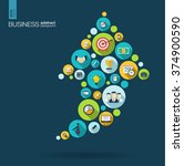 color circles with flat icons... | Shutterstock .eps vector #374900590