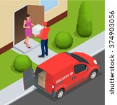 express home delivery. courier... | Shutterstock .eps vector #374903056