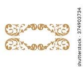 premium gold vintage baroque...   Shutterstock .eps vector #374903734