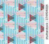 seamless geometrical patterns... | Shutterstock .eps vector #374904004