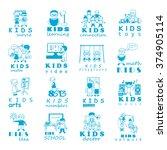 children icons set   vector...   Shutterstock .eps vector #374905114