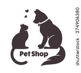 Cat And Dog Vector Signs And...