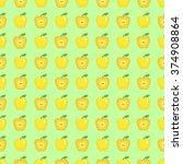 seamless pattern of beautiful... | Shutterstock .eps vector #374908864