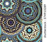 vector seamless pattern of... | Shutterstock .eps vector #374913289