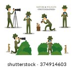 nature and wildlife photography ...   Shutterstock .eps vector #374914603