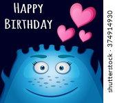 happy birthday card design....   Shutterstock .eps vector #374914930