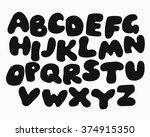 funny colorful alphabet poster... | Shutterstock .eps vector #374915350