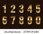 vector golden numbers. set of... | Shutterstock .eps vector #374919184