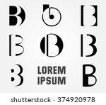 letter b logo. logo b vector...