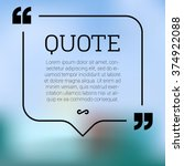 vector quote mock up. quote... | Shutterstock .eps vector #374922088