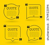 vector quote mock up. quote... | Shutterstock .eps vector #374922094