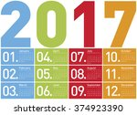 Colorful Calendar For Year 201...