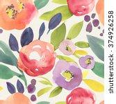 seamless hand illustrated... | Shutterstock . vector #374926258