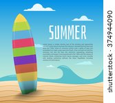 vector summer background with... | Shutterstock .eps vector #374944090