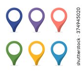 map marker. pin with blank... | Shutterstock .eps vector #374945020