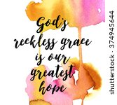 vector quote for god.  positive ... | Shutterstock .eps vector #374945644