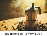 Artistic Shot Of Old Coffee...