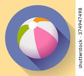 beach ball icon. modern flat... | Shutterstock .eps vector #374947498