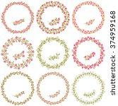 set of vintage frames and... | Shutterstock .eps vector #374959168