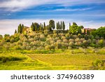 beautiful tuscany landscape at... | Shutterstock . vector #374960389