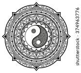 circular pattern in form of... | Shutterstock .eps vector #374963776