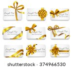 set of beautiful cards with... | Shutterstock .eps vector #374966530