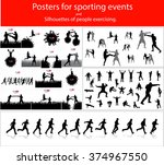 posters for sporting events and ... | Shutterstock .eps vector #374967550