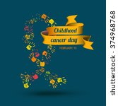 childhood cancer day. february...   Shutterstock .eps vector #374968768