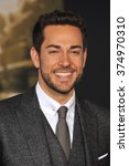 """Small photo of LOS ANGELES, CA - NOVEMBER 4, 2013: Zachary Levi at the US premiere of his movie """"Thor: The Dark World"""" at the El Capitan Theatre, Hollywood. Picture: Paul Smith / Featureflash"""