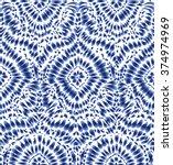 indigo blue tie dye textile... | Shutterstock .eps vector #374974969