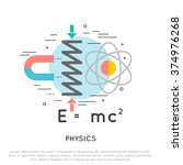 physics flat and line vector... | Shutterstock .eps vector #374976268
