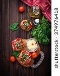 traditional italian antipasti...   Shutterstock . vector #374976418