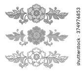 vintage floral raster seamless... | Shutterstock . vector #374976853