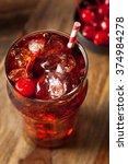 sweet refreshing cherry cola...   Shutterstock . vector #374984278
