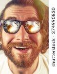 Bearded Man Vacation Sunglasse...