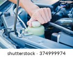 check the condition of the car ... | Shutterstock . vector #374999974