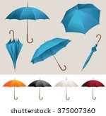 collection of opened  folded ... | Shutterstock .eps vector #375007360