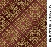 damask seamless pattern for... | Shutterstock .eps vector #375013750