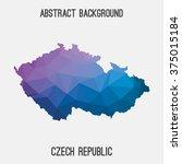 czech republic map in geometric ... | Shutterstock .eps vector #375015184