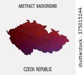 czech republic map in geometric ... | Shutterstock .eps vector #375015244