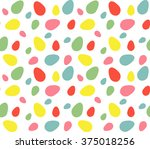 seamless easter pattern with... | Shutterstock .eps vector #375018256