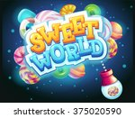 sweet world game user interface ... | Shutterstock .eps vector #375020590