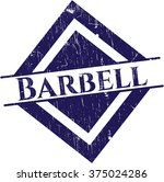 barbell rubber seal with grunge ... | Shutterstock .eps vector #375024286